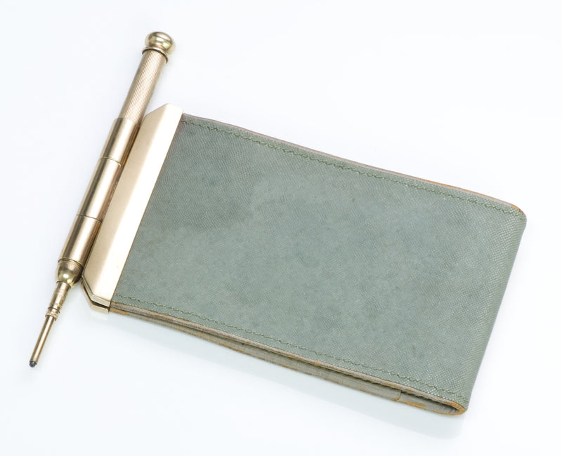 Cartier London Gold Notepad & Pencil