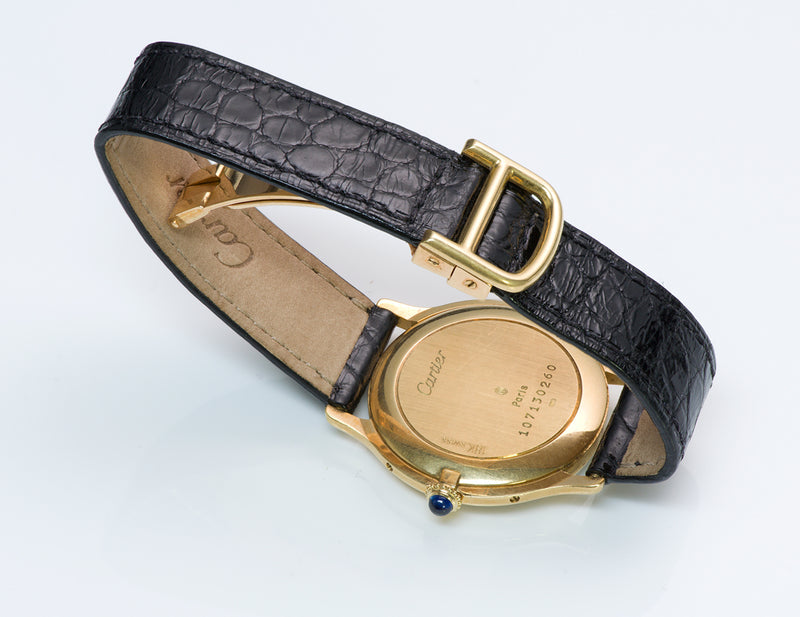 Cartier Paris 18K Y Gold Watch