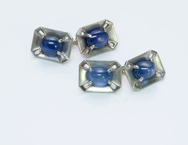 Cartier Platinum Cufflinks & Stud Set