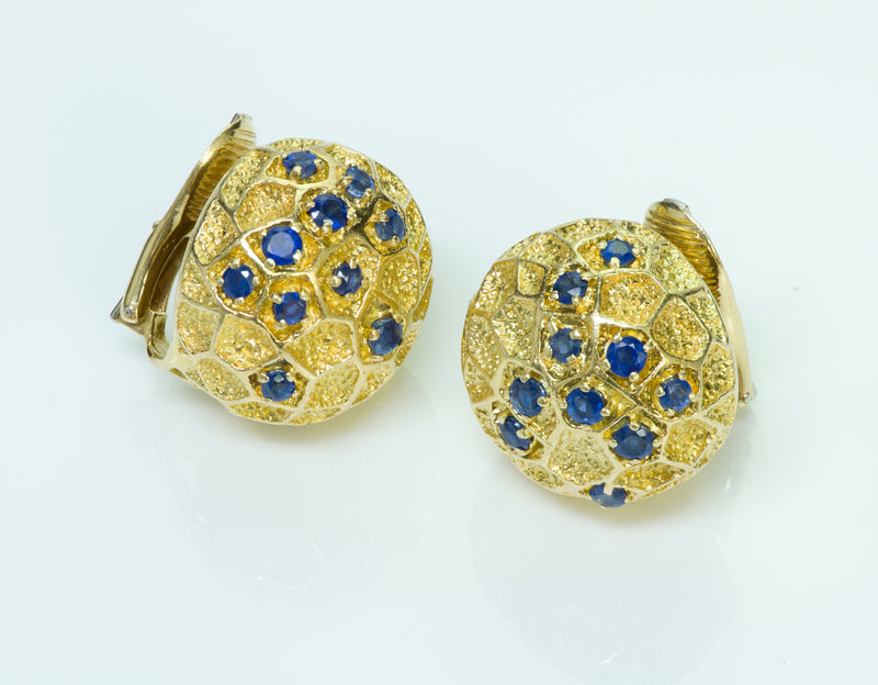 Cartier Gold Sapphire Earrings