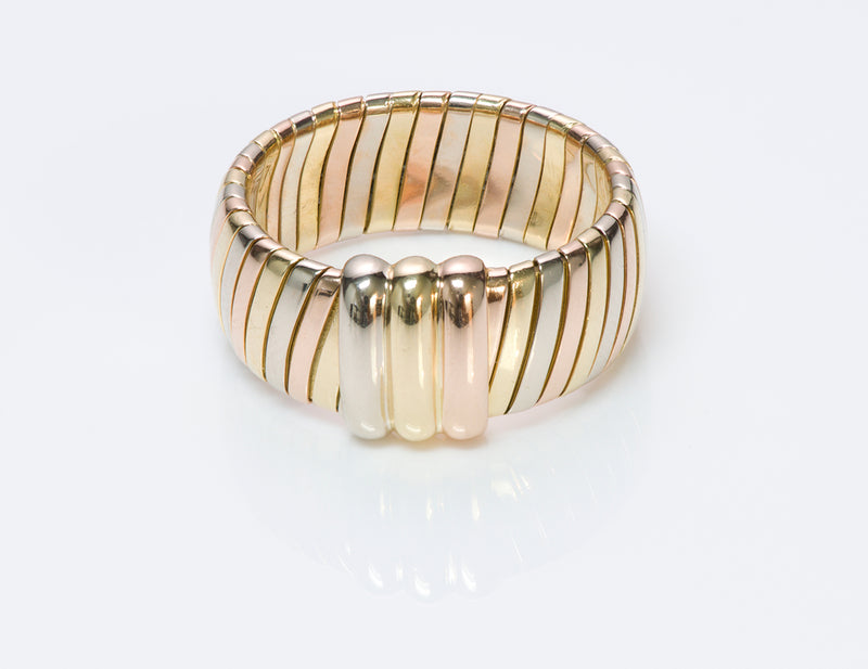 Cartier Tubogas 18K Gold Ring Band tri