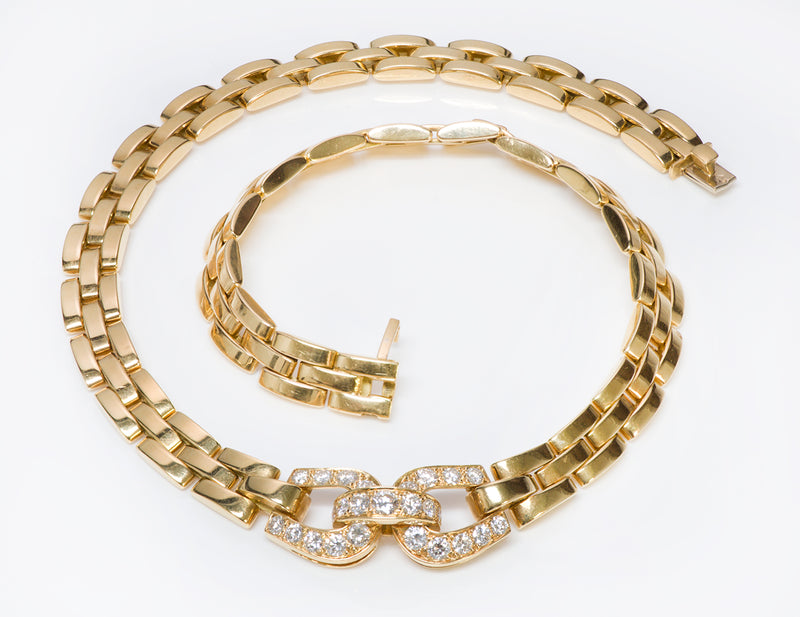 Cartier Gold Diamond Maillon Necklace Panthere