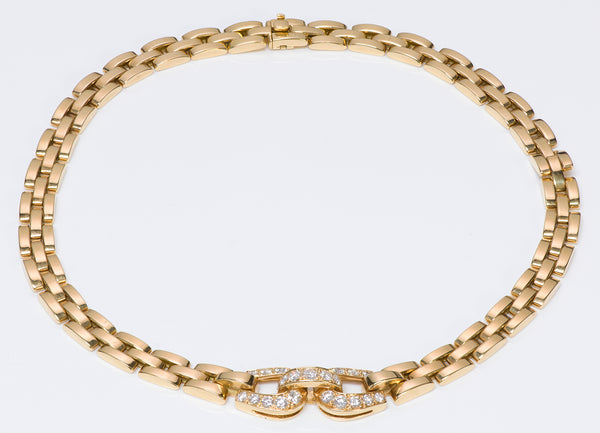 Panthere Cartier Diamond Gold Necklace 18K
