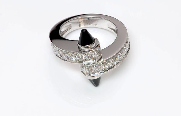 Cartier Menotte 18K Gold Diamond Onyx Ring 2