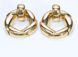 Cartier 18K Gold Door-Knocker Earrings