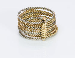 Cartier 18K Gold Multi Rope Band Ring