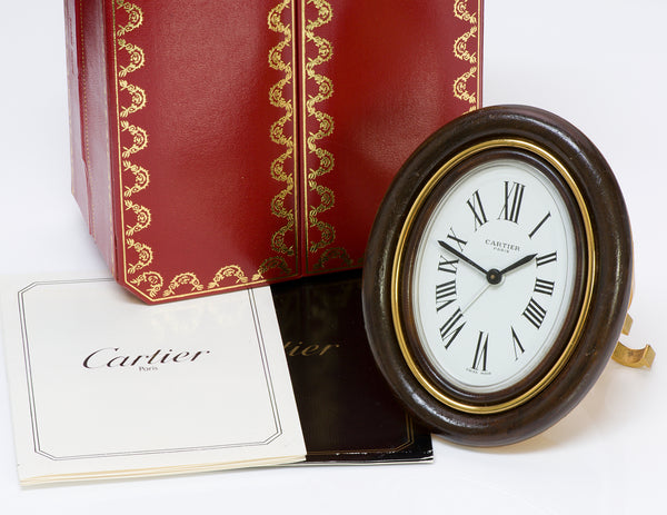Cartier Paris Enamel Oval Desk Alarm Clock1