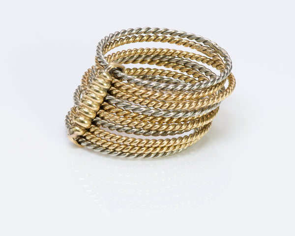 Cartier 18K Gold Rope Band Ring