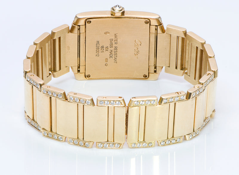 Cartier Tank Française Gold & Diamond Watch
