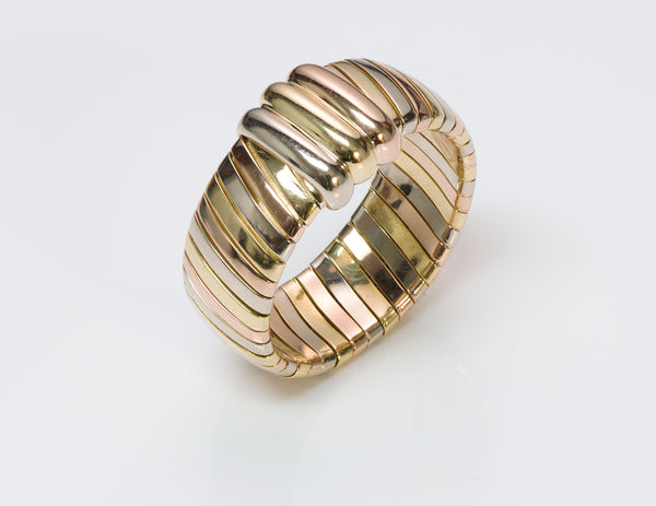 Cartier Tubogas 18K Gold Ring Band-2
