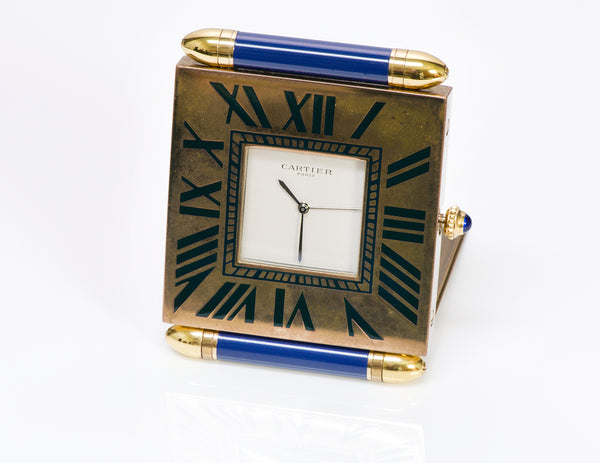 Cartier Quadrant Border Travel Desk Clock
