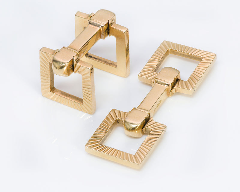 Cartier Stirrup 18K Gold Cufflinks