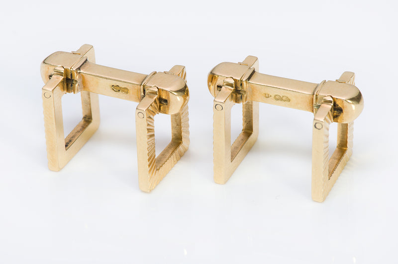Cartier Stirrup 18K Yellow Gold Cufflinks