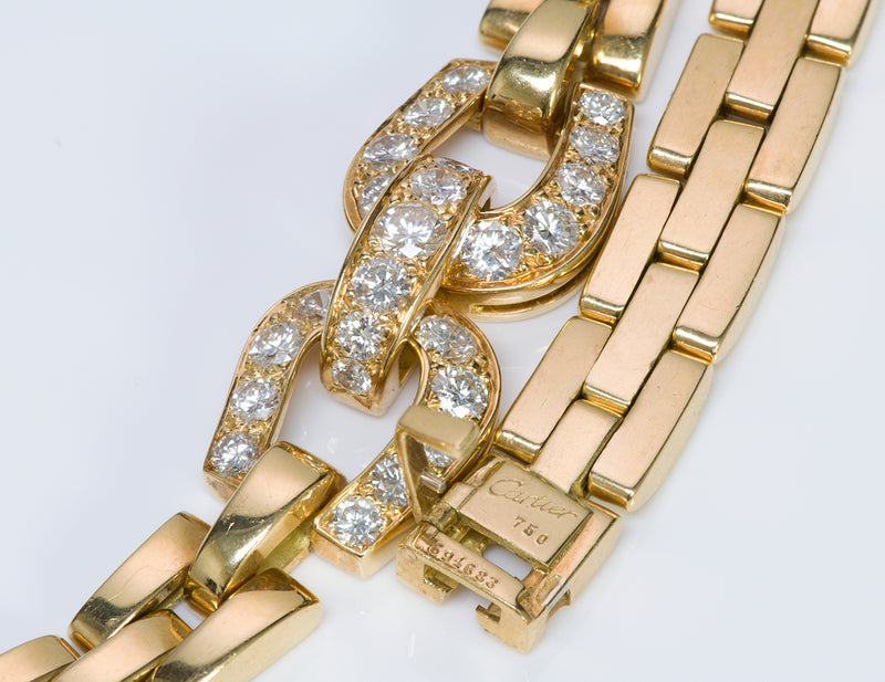 Cartier Diamond Necklace Gold Link