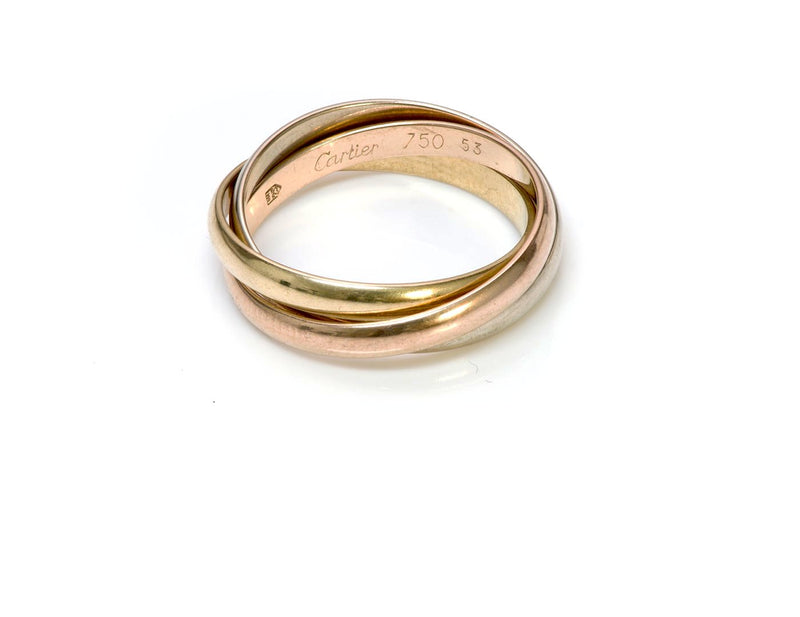 Cartier Trinity 18K Rose Yellow Gold Ring Band