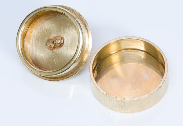 Vintage Cartier Gold Round Pill Box