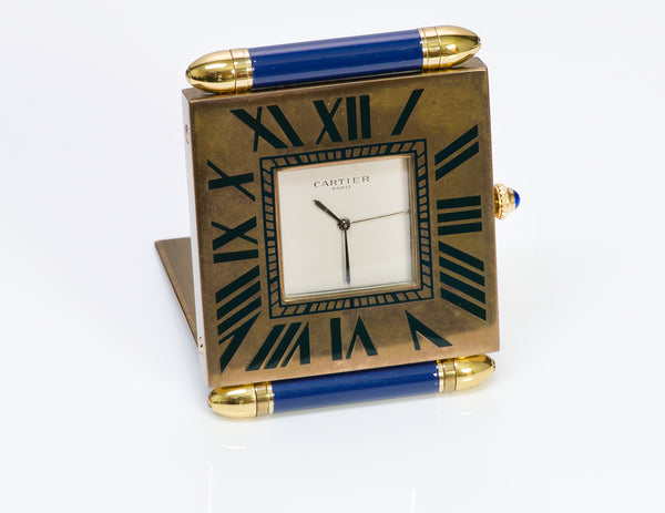 Cartier Quadrant Border Travel Desk Clock1