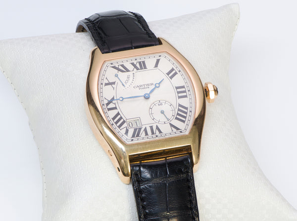 Cartier Tortue Gold XL 8 Day Power Reserve Privee Watch