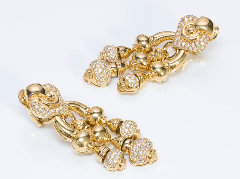 Chandelier Diamond Earrings Gold
