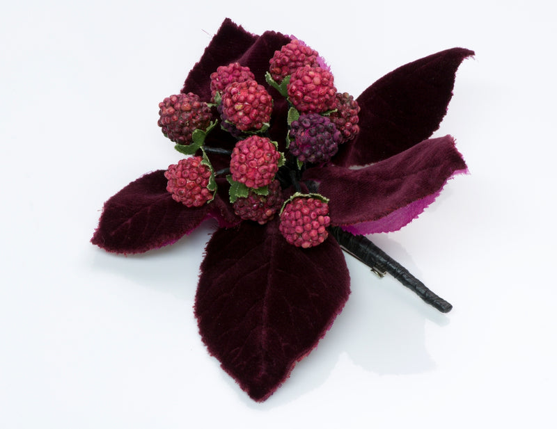 Chanel Velvet Flower Brooch