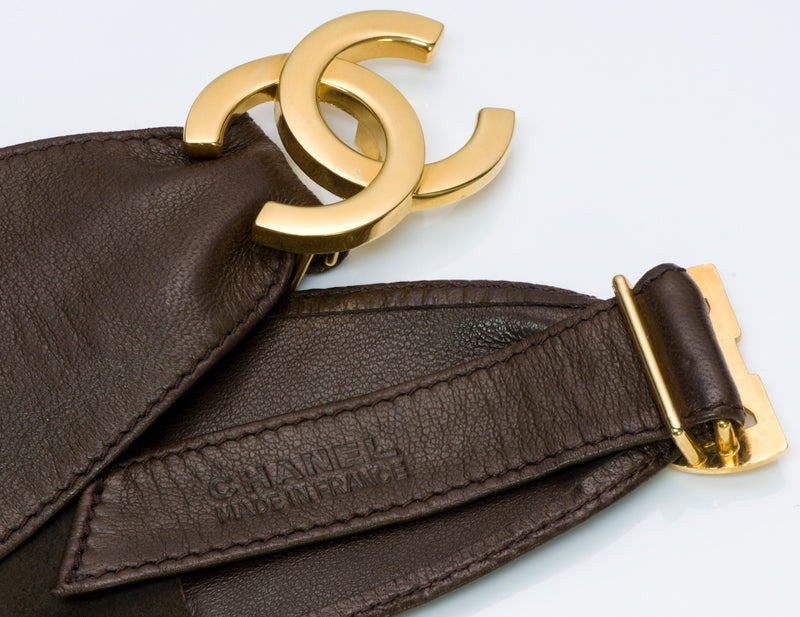 Chanel Brown Leather Belt