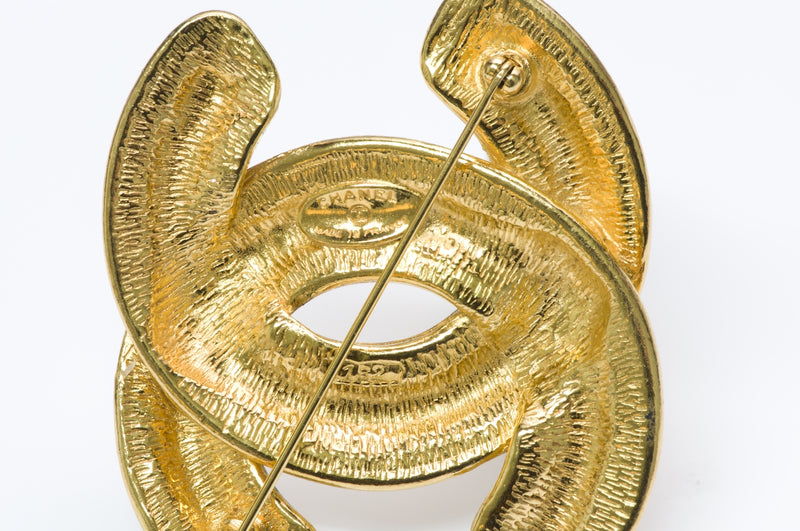 Chanel CC Gold Brooch