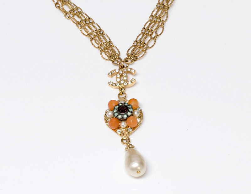Chanel CC Crystal Pearl Necklace