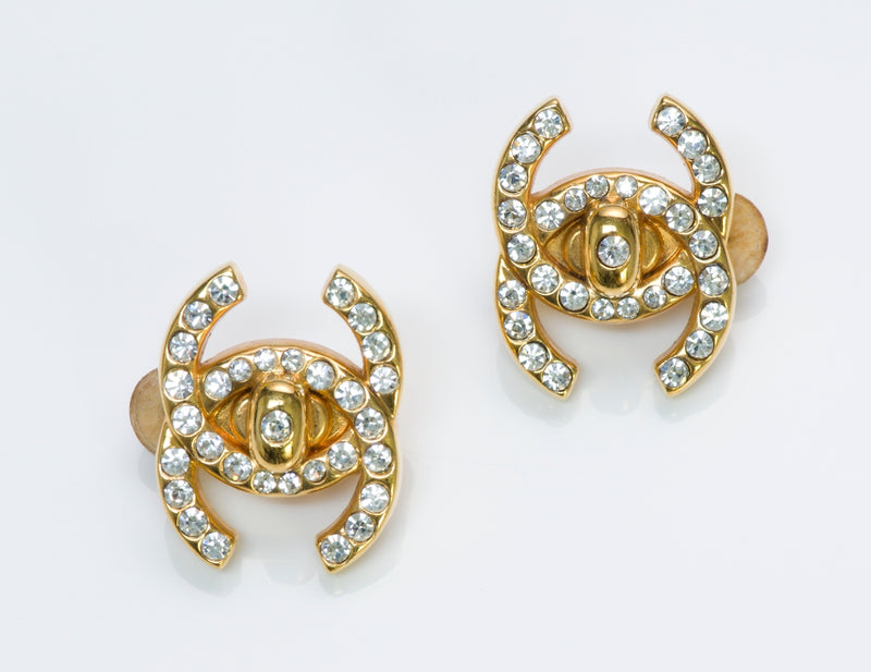 Chanel CC Turn Lock Earrings