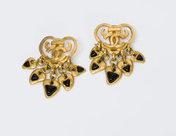 Chanel CC Heart Gripoix Earrings
