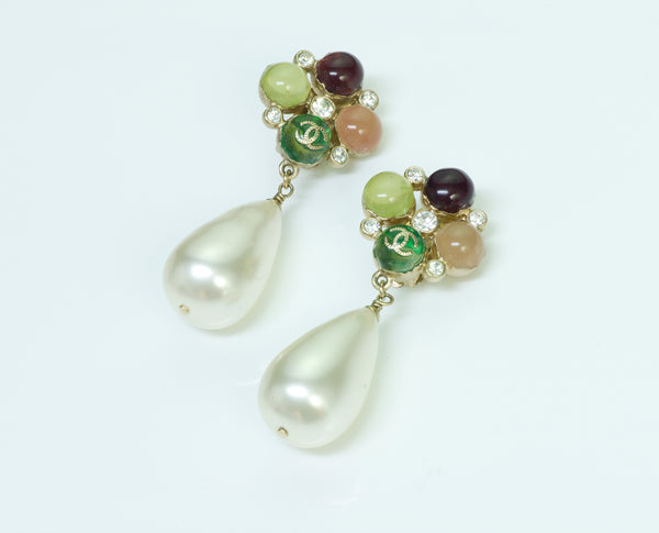 Chanel Gripoix Pearl Drop Earrings