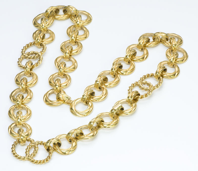 Chanel Gold Tone Chain Belt