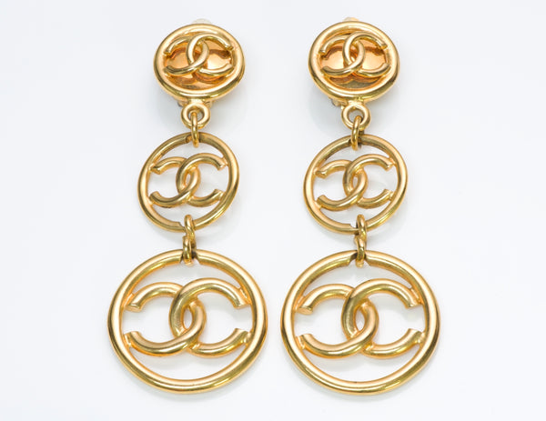 Chanel CC Long Earrings
