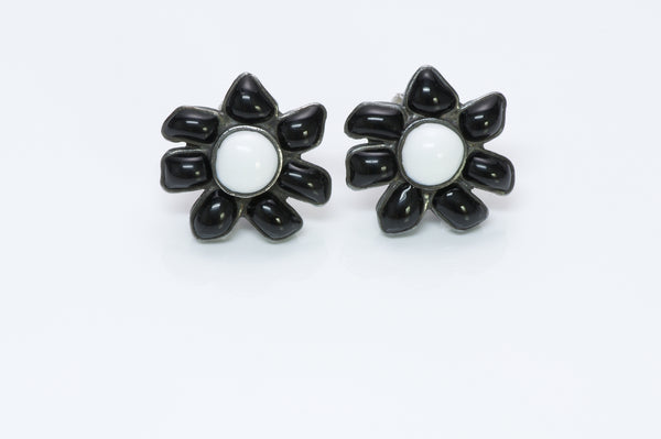 Chanel Gripoix Camellia Earrings