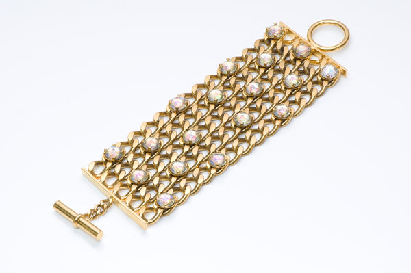 Chanel Iridescent Crystal Chain Bracelet