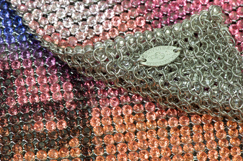 Chanel Metal Mesh Crystal Scarf