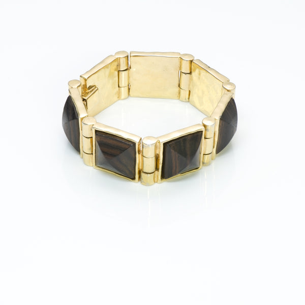 CHANEL Pyramid Wood Bracelet