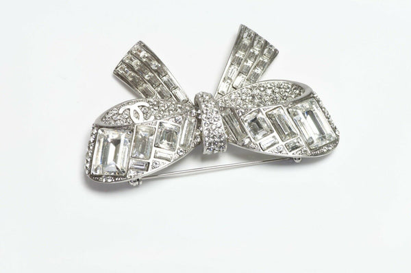 CHANEL Crystal Bow Brooch