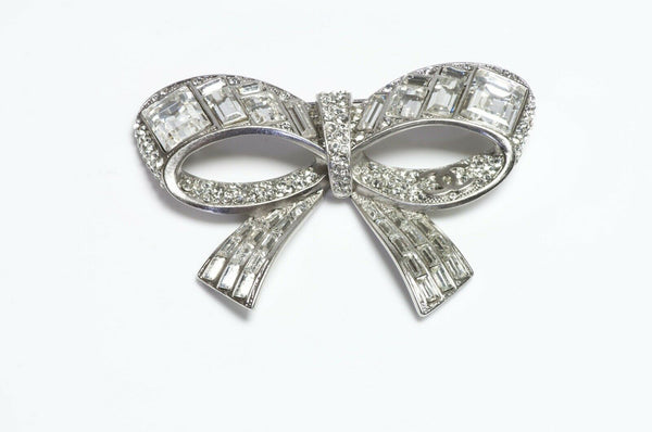 CHANEL Paris CC Spring 2008 Crystal Bow Brooch