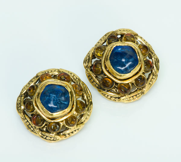 Chanel Byzantine Gripoix Earrings