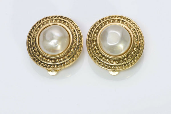 Chanel 1980's Baroque Pearl Earrings