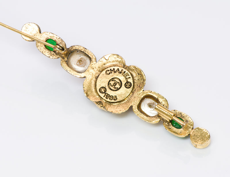 Vintage Chanel 1985 Gripoix Pin Brooch
