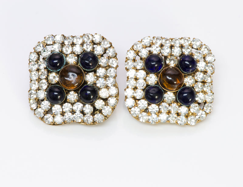 Chanel Crystal Gripoix Earrings Vintage