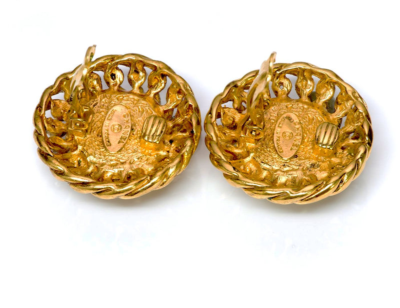 Chanel 1980's Gold Tone Earrings