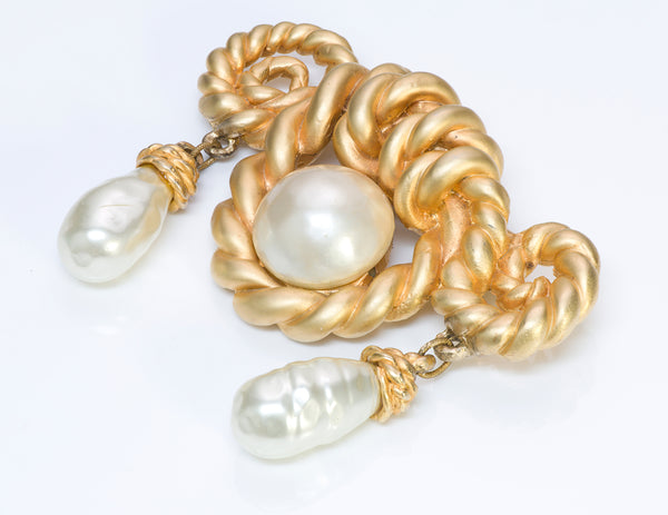 Chanel Rope Pearl Brooch
