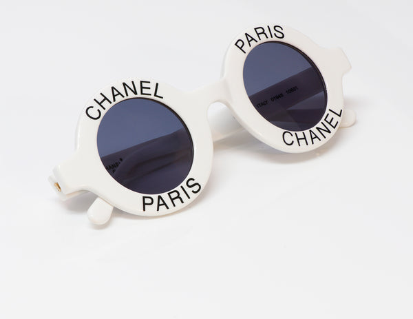 Chanel CC 1993 White Round 01945 Sunglasses