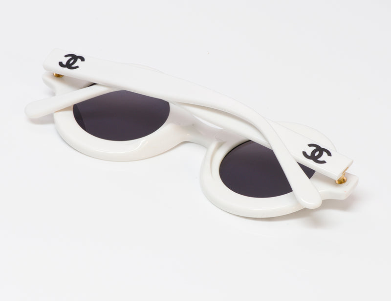 Chanel CC White Round 01945 Sunglasses
