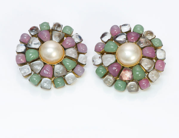 Chanel Pearl Gripoix Earrings