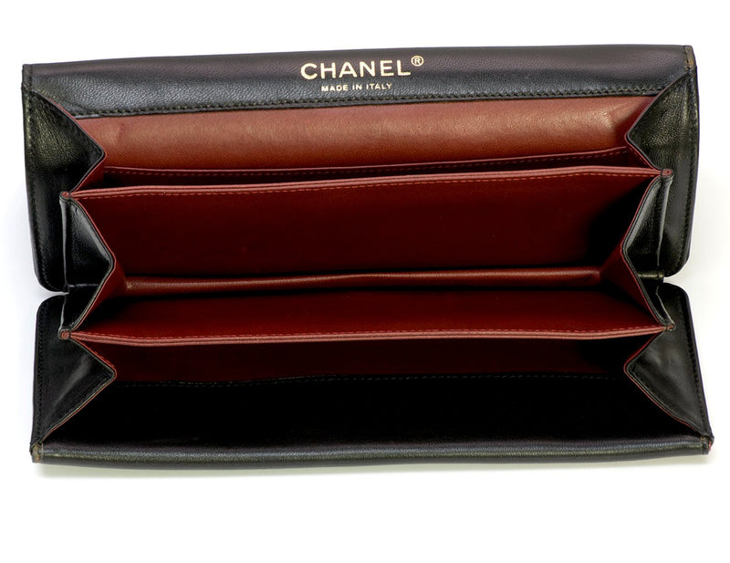 Chanel CC Black Leather Chain Clutch Bag 3