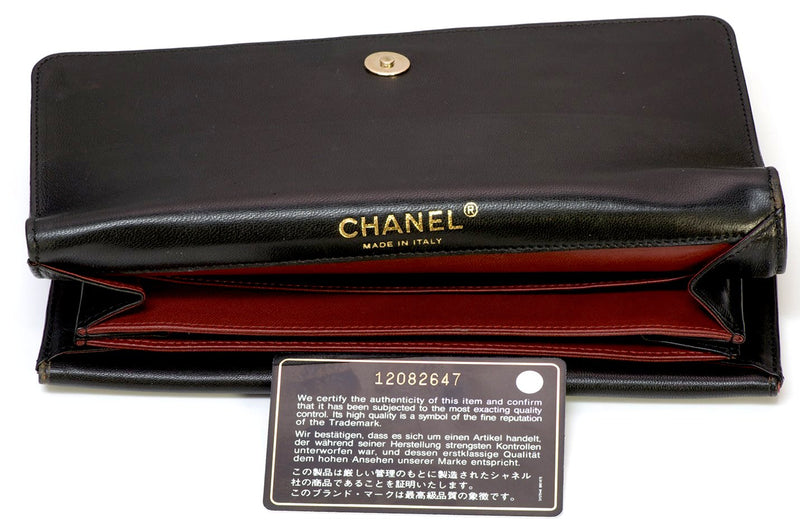 Chanel CC Black Leather Chain Clutch Bag 4