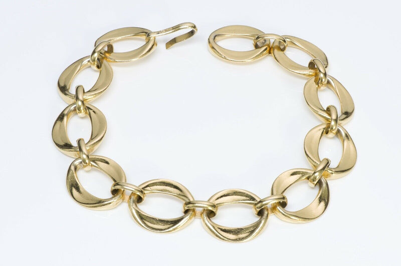 Chanel 1980's Gold Tone Chain Link Choker Necklace Seen on Nicole Richie